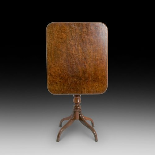 Late Georgian Mahogany Tilt Top Occaisional Table