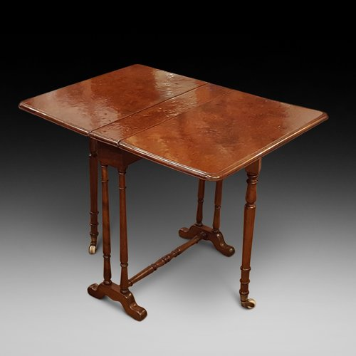 Late Victorian Burr Yew Sutherland Table