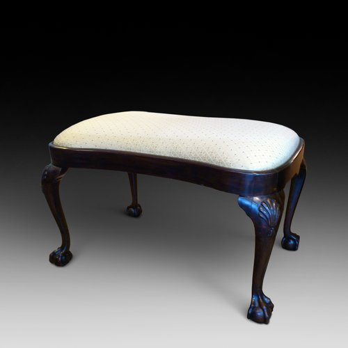 Mahogany Kidney Shaped Stool