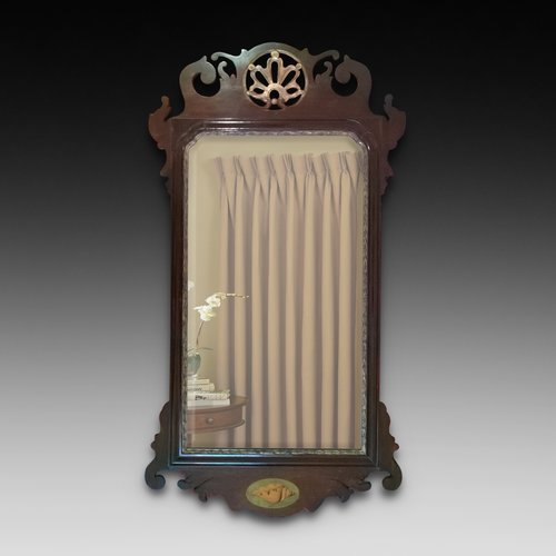 Mahogany and Parcel Gilt Wall Mirror