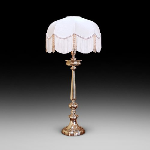 Mid 19thC Brass Candlestick Table Lamp