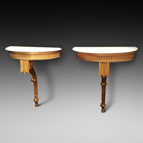 Pair of 19thC Giltwood Console Tables