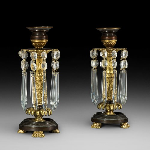 Pair of Regency Brass Lustres