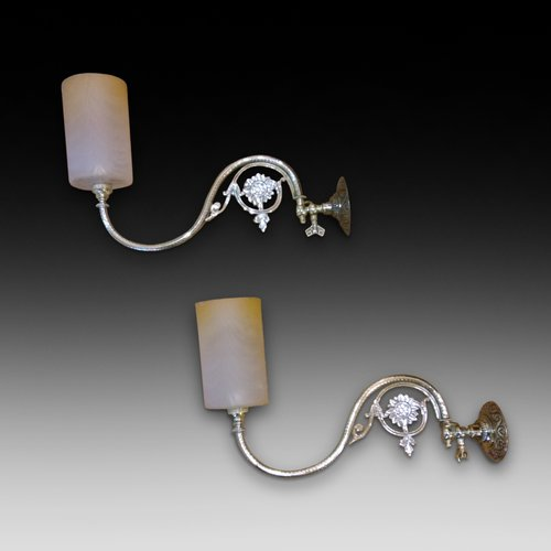 Pair of Victorian Gas Lamps