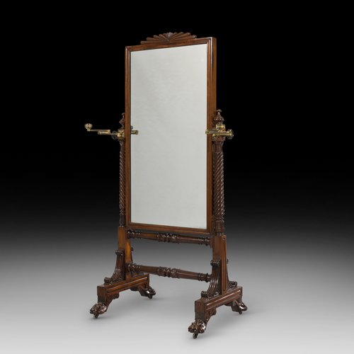 Regency Mahogany Cheval Mirror