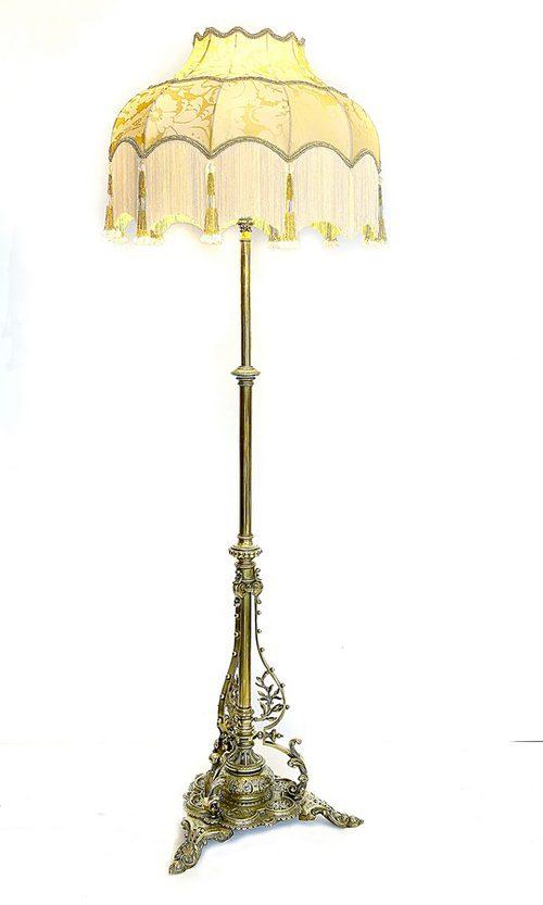 Antiques atlas victorian brass standard lamp for Antique brass standard floor lamp