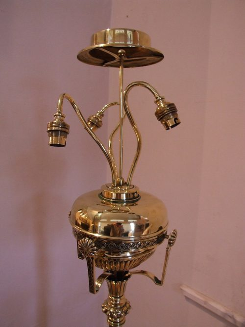 Antiques Atlas Victorian Brass Standard Lamp
