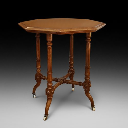 Victorian Burr Walnut Occaisional Lamp Table