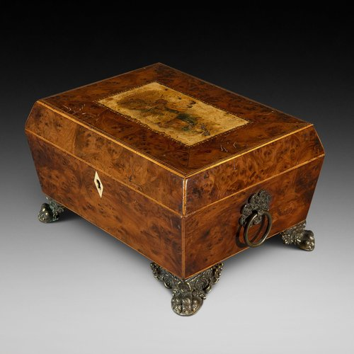 Victorian Burr Yew Jewellery Box