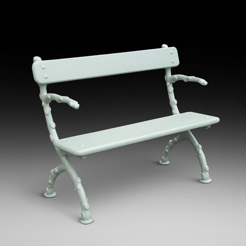 "Victorian Cast Iron ""Twiglet"" Bench"
