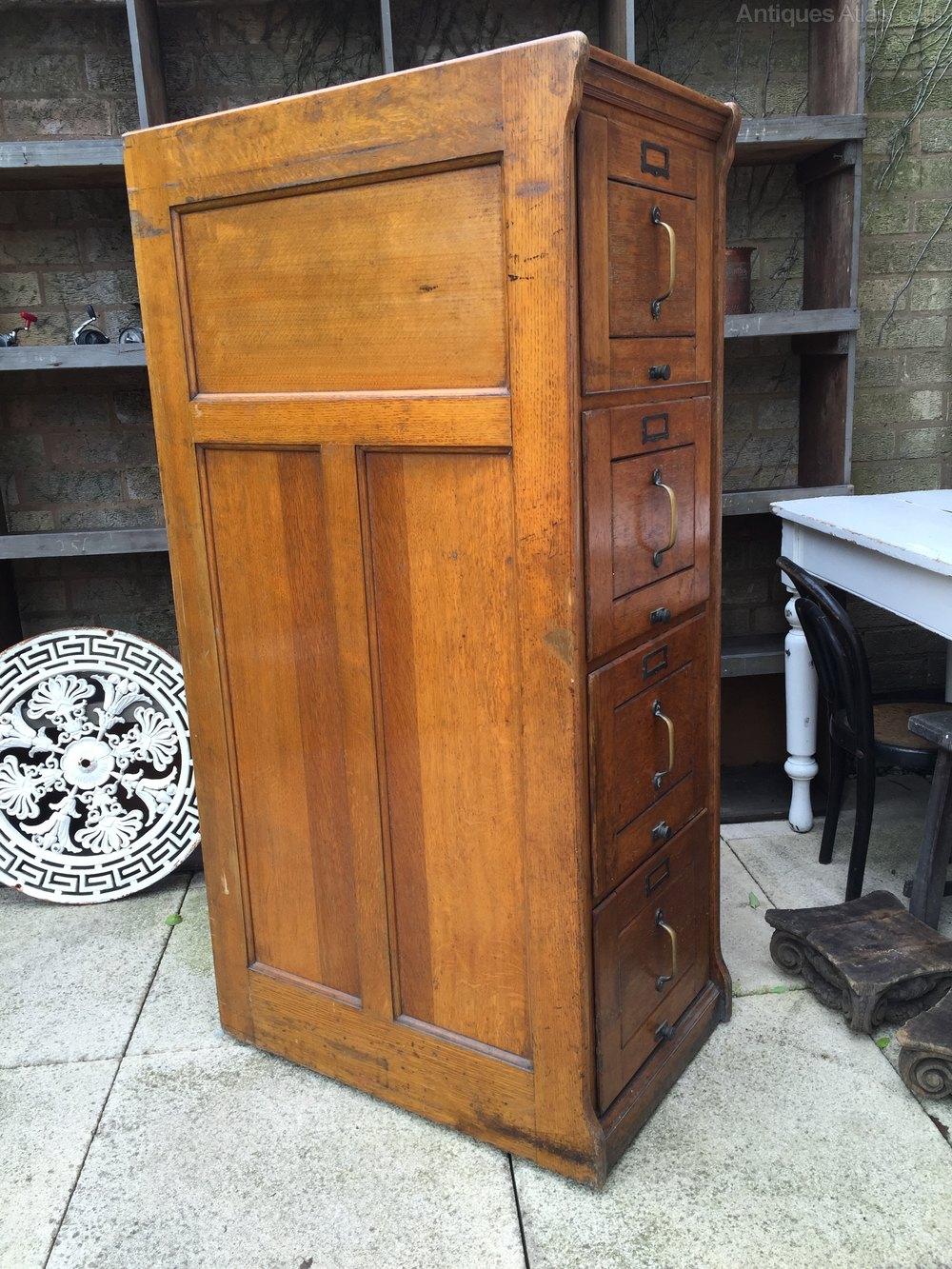 Oak 4 Drawer Filing Cabinet Antiques Atlas
