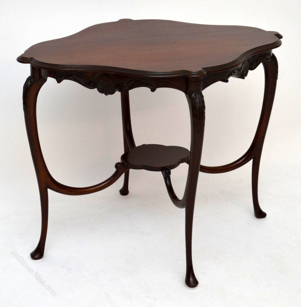 Antique art nouveau mahogany occasional table antiques atlas for Occasional furniture