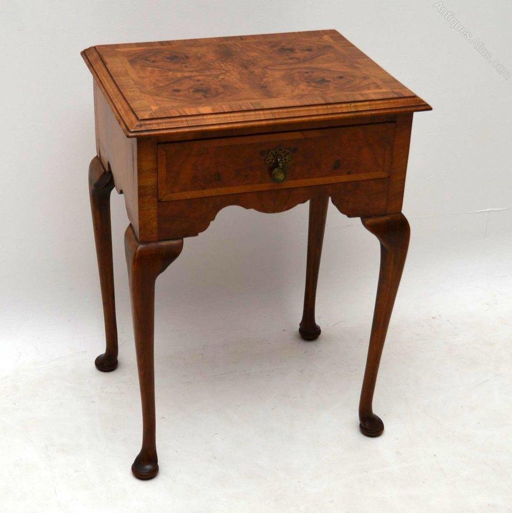 Antique burr walnut side table antiques atlas for Walnut side table