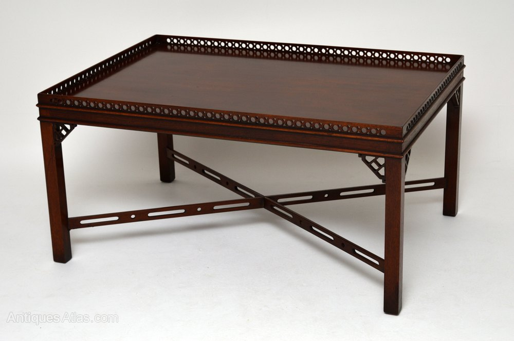 Antique Chippendale Style Mahogany Coffee Table Antiques Atlas