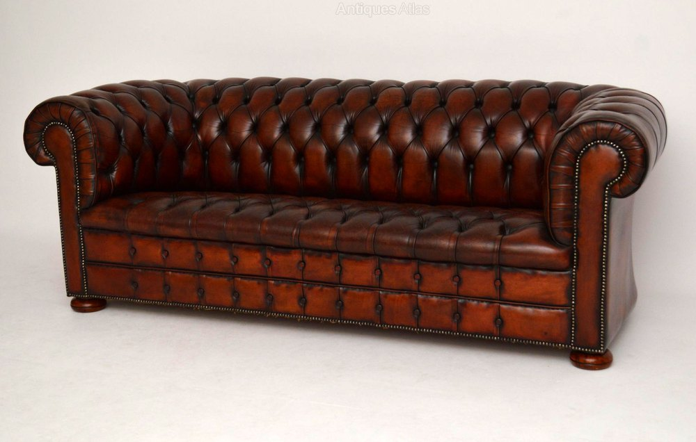 Antique Deep Buttoned Leather Chesterfield Sofa Antiques Atlas