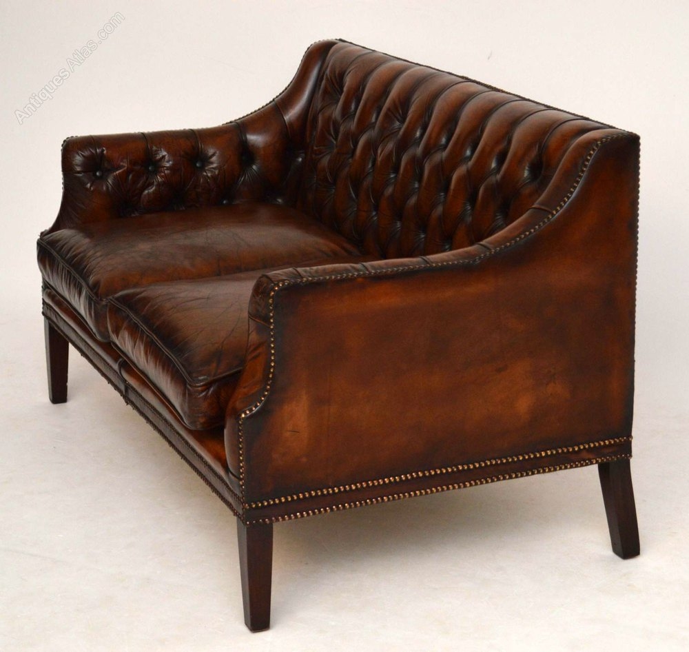 Antique Deep Buttoned Leather Sofa Antiques Atlas