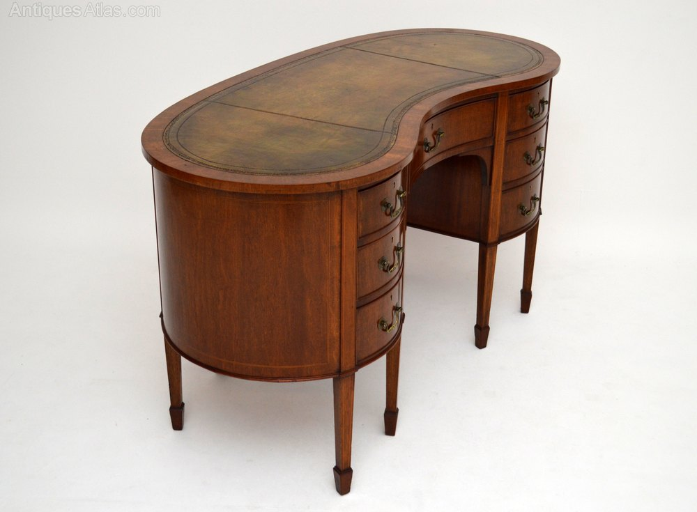 Antique edwardian mahogany kidney shaped desk antiques atlas for Kidney desk for sale