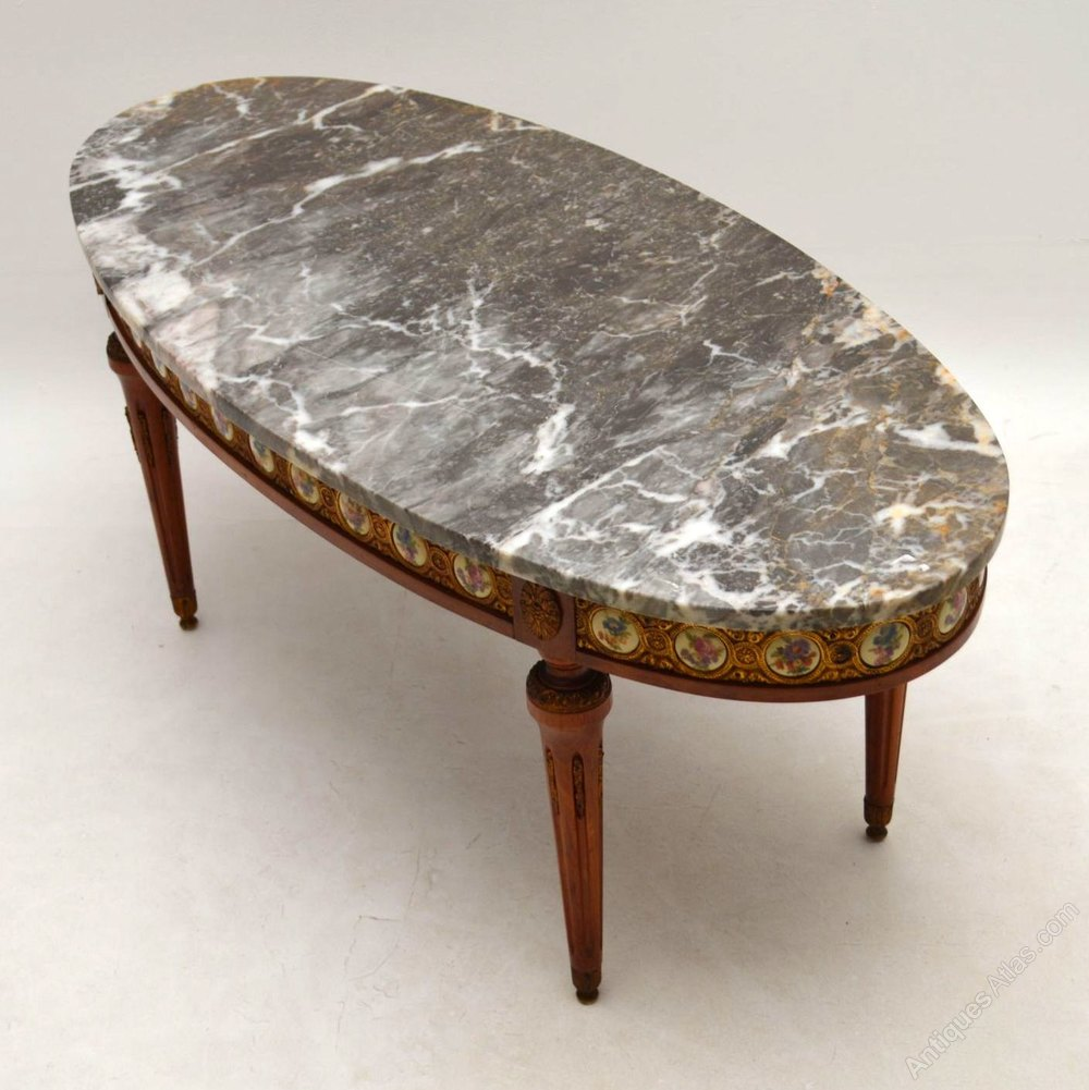 antique french marble top coffee table antiques atlas. Black Bedroom Furniture Sets. Home Design Ideas