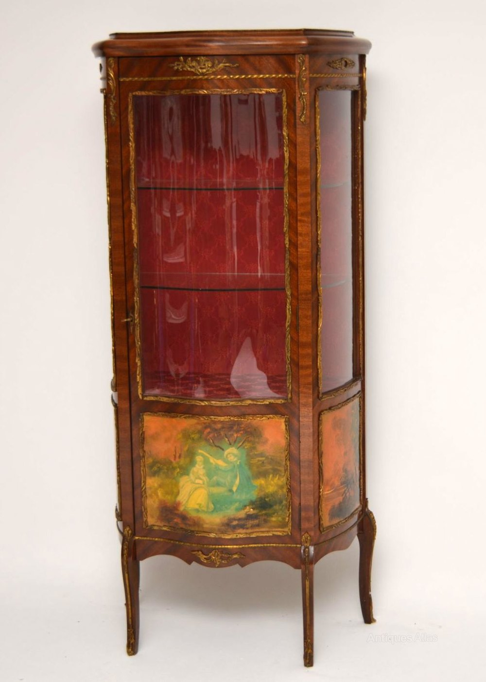 Antique French Style Ormolu Display Cabinet