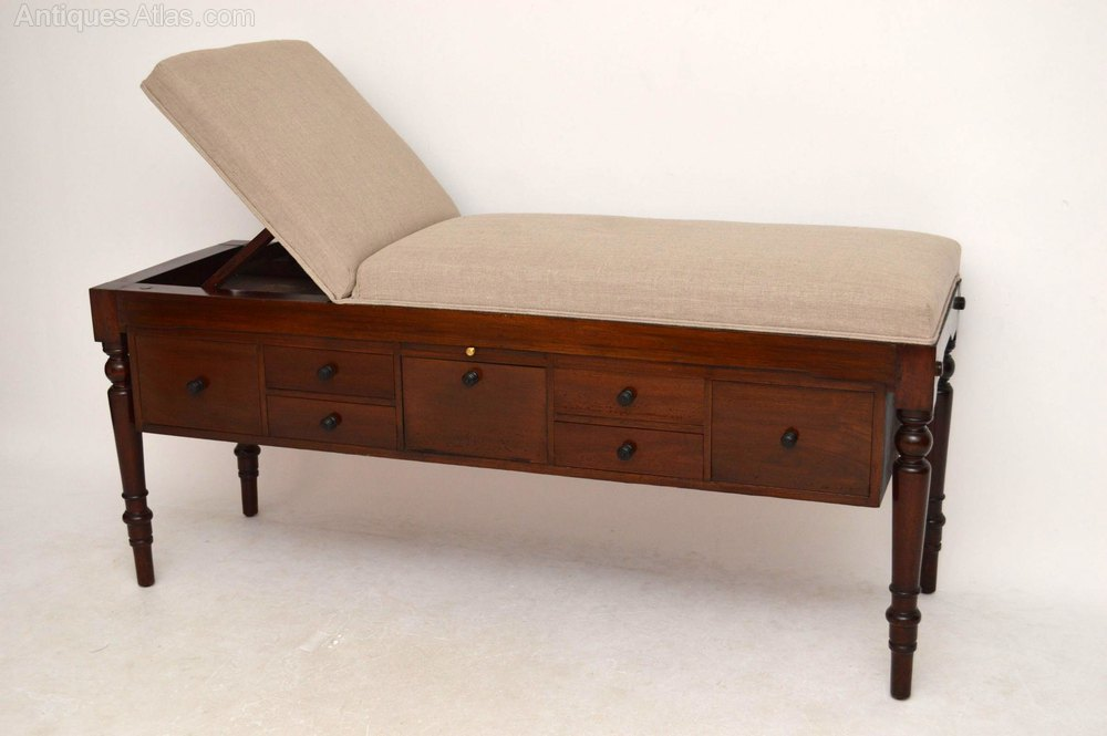 Used Couches For Sale >> Antique Mahogany Doctors Examination Couch Bed - Antiques ...