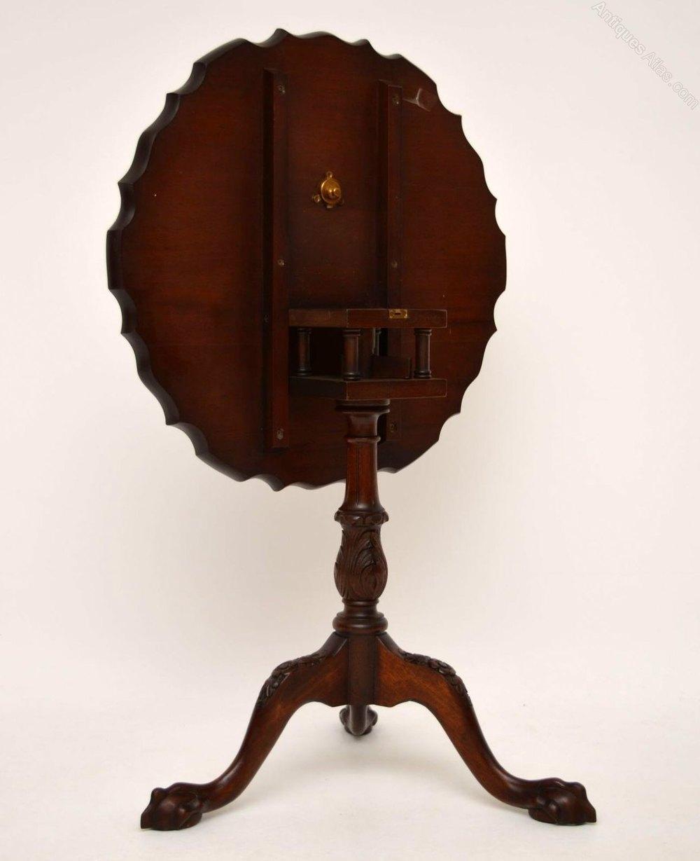 Antique Mahogany Tilt Top Pie Crust Table Antiques Atlas