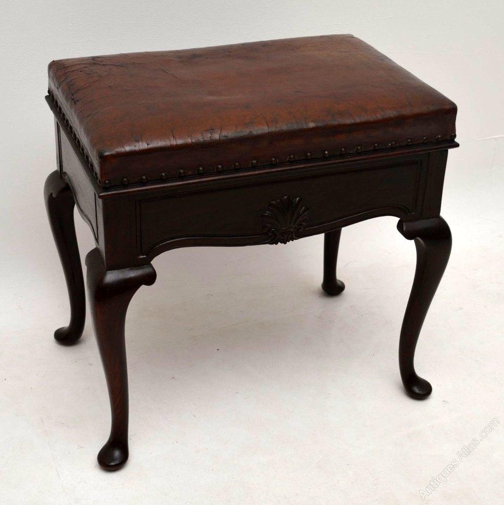 Antique Mahogany Leather Piano Stool Antiques Atlas