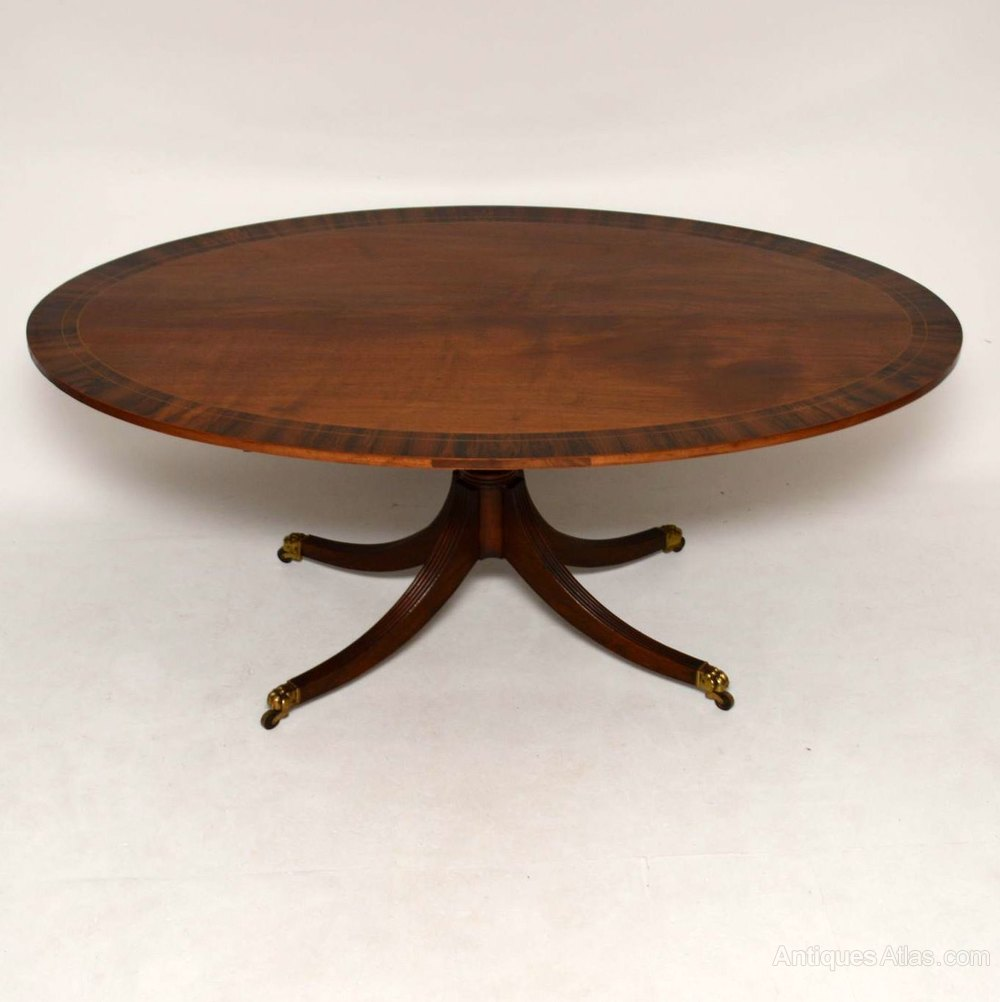 Antique Mahogany Rosewood Oval Dining Table Antiques Atlas