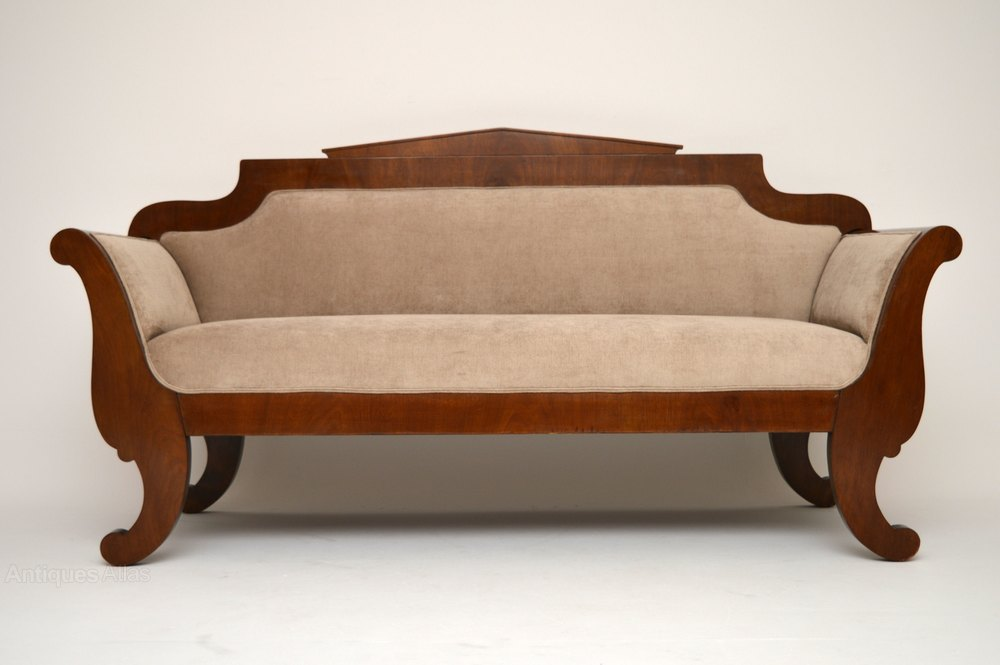 Antique swedish biedermeier satinbirch sofa antiques atlas Biedermeier sofa