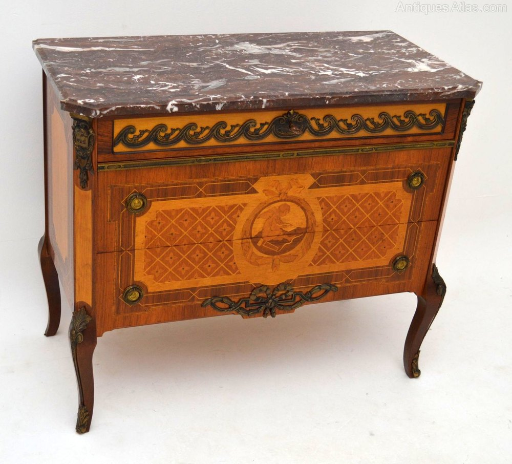 antique swedish inlaid marble top commode chest antiques atlas. Black Bedroom Furniture Sets. Home Design Ideas