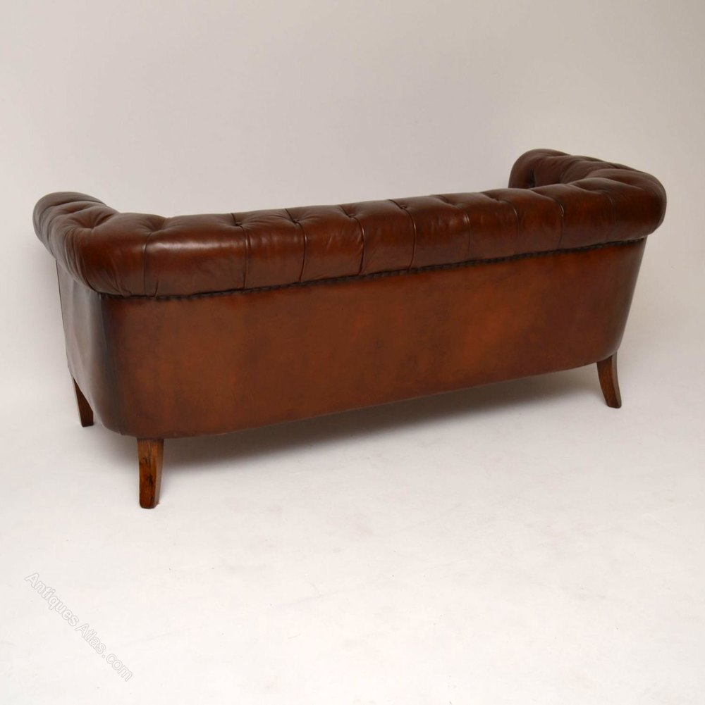 Antique Swedish Leather Chesterfield Sofa Antiques Atlas