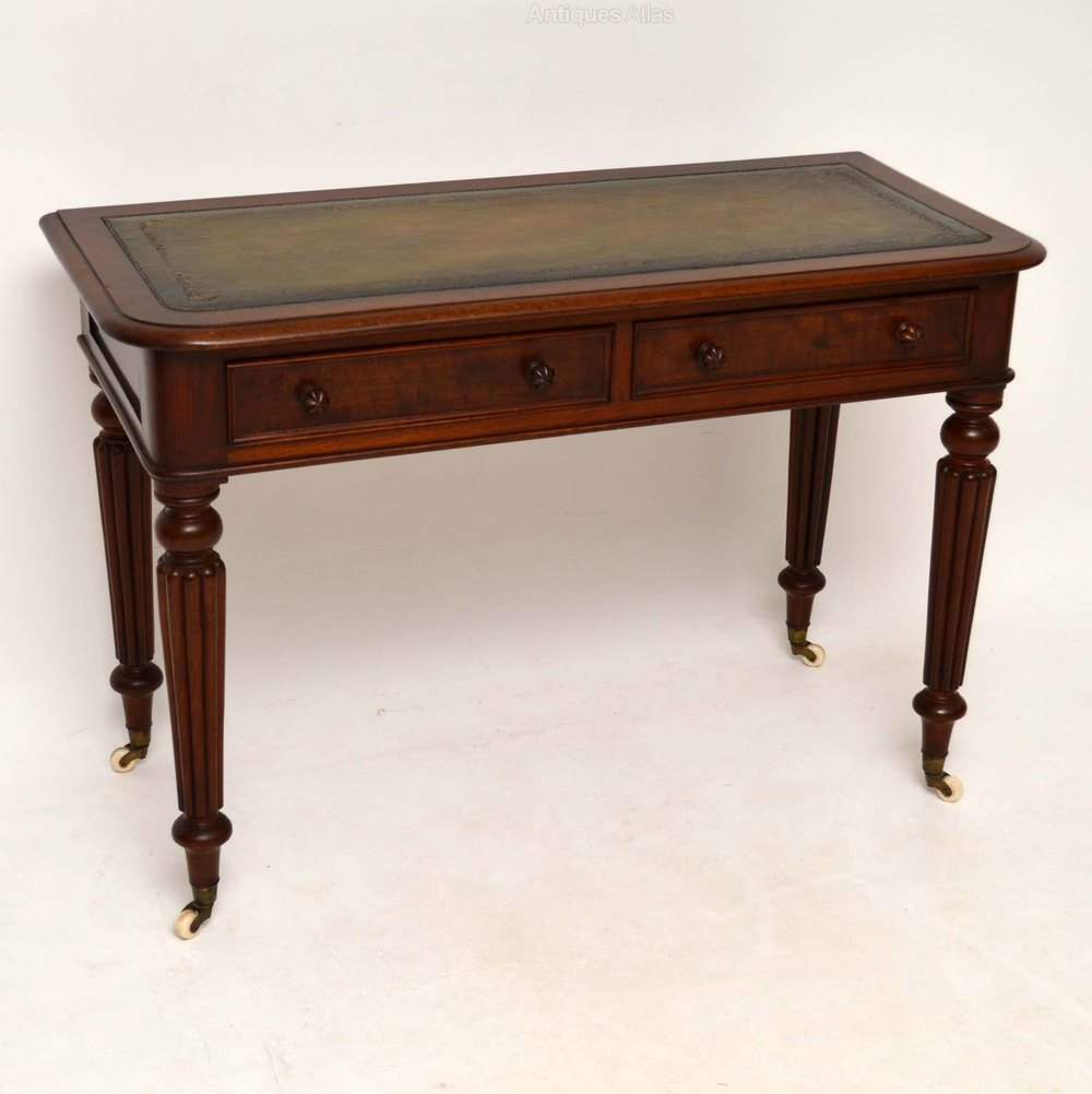 Antique william iv mahogany desk writing table