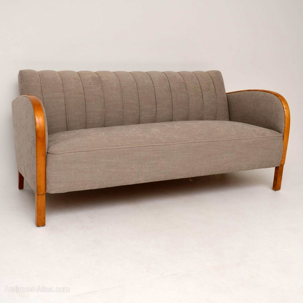 Swedish Art Deco Satin Birch Sofa Antiques Atlas