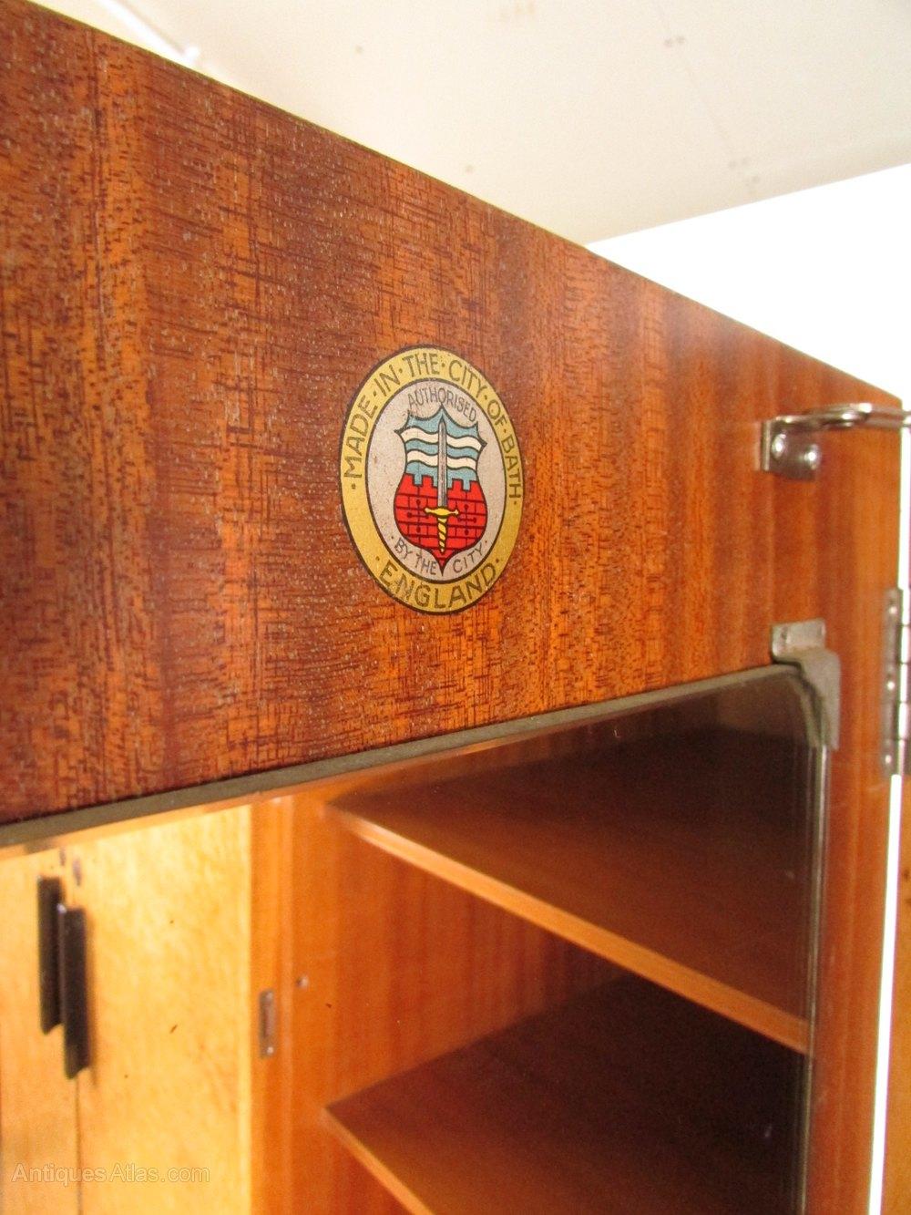 Art Deco Burr Maple Wardrobe Bath Cabinet Makers