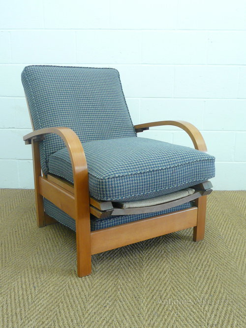 Art Deco Recliner Armchair / Daybed Antique Armchairs & Art Deco Recliner Armchair / Daybed - Antiques Atlas islam-shia.org