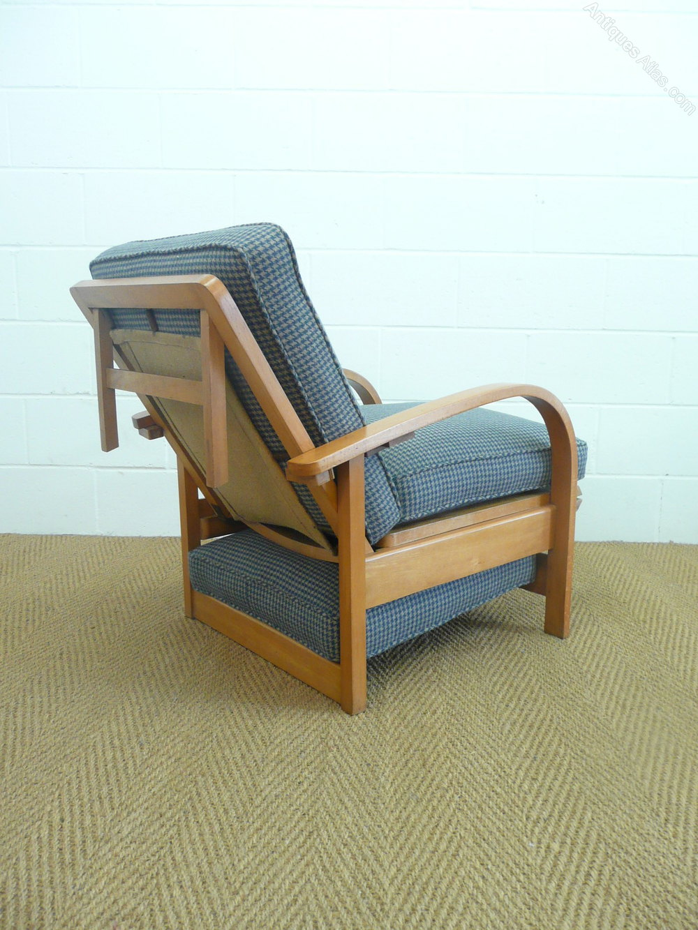 Art Deco Recliner Armchair / Daybed - Antiques Atlas