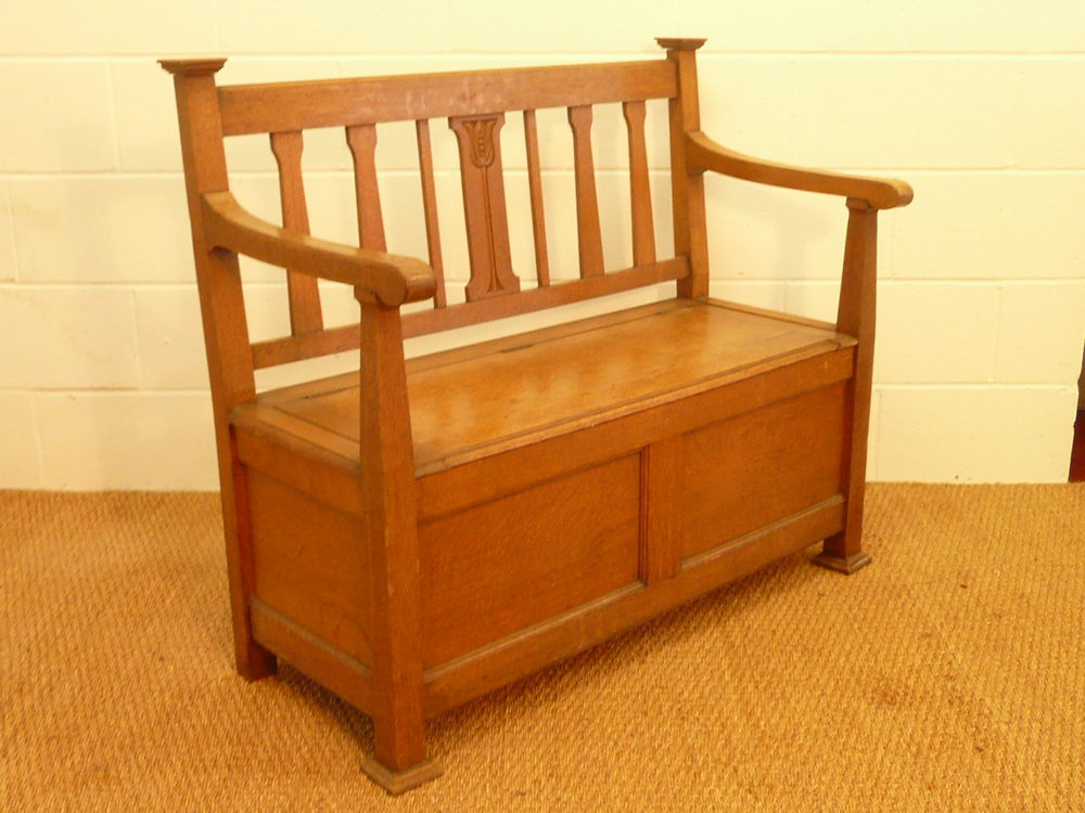 Arts Crafts Hall Bench Settle Antiques Atlas