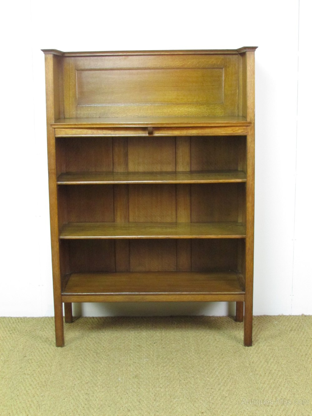 Arts crafts oak bookcase by heal 39 s antiques atlas for Arts and crafts bookcase