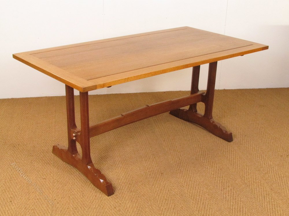 Cotswold School Oak Refectory Dining Table Antiques Atlas