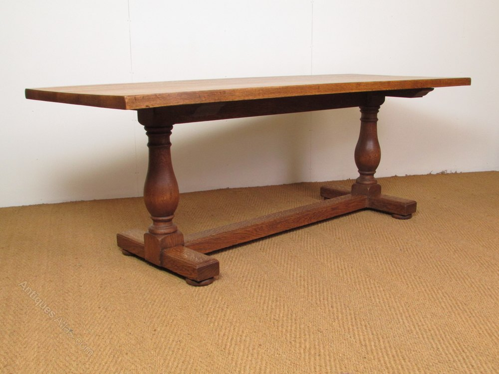 Heal 39 s 7 39 oak refectory dining table antiques atlas - Heals dining table ...