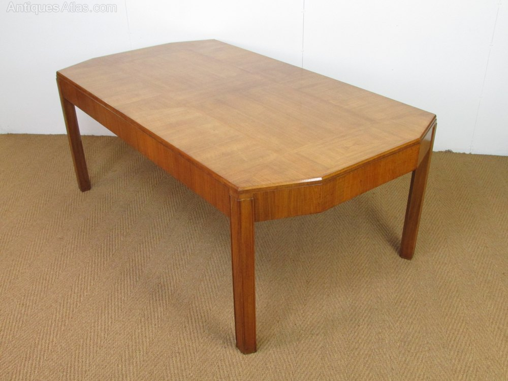 Heal 39 s art deco walnut parquetry dining table antiques atlas - Heals dining table ...