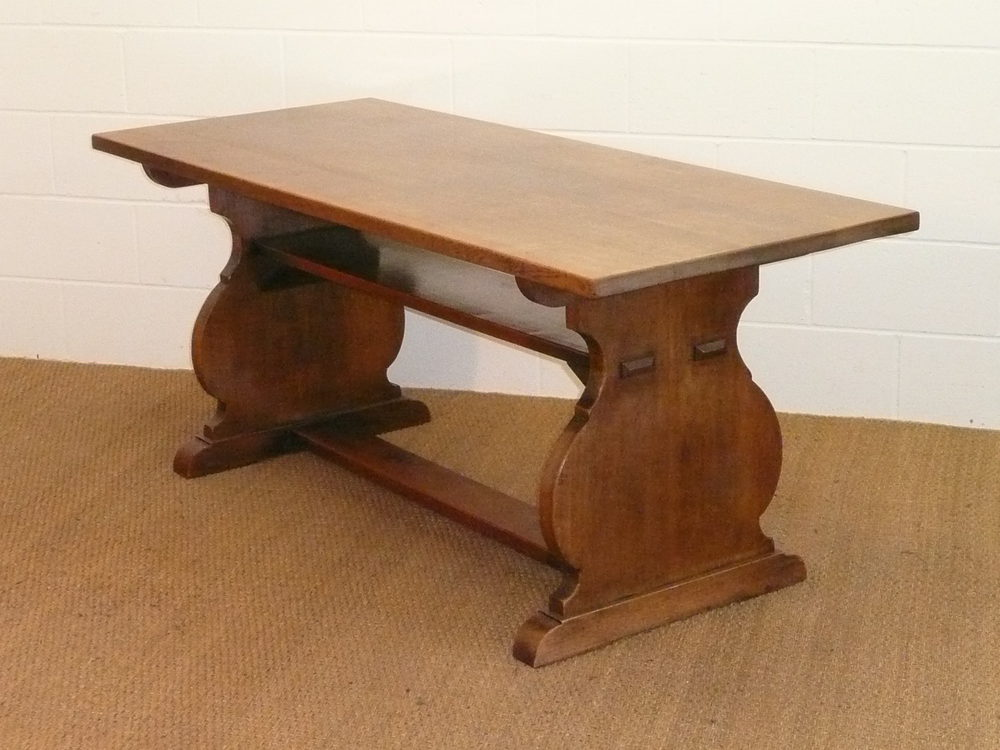 Heal 39 S Arts Crafts Oak Refectory Dining Table Antiques Atlas