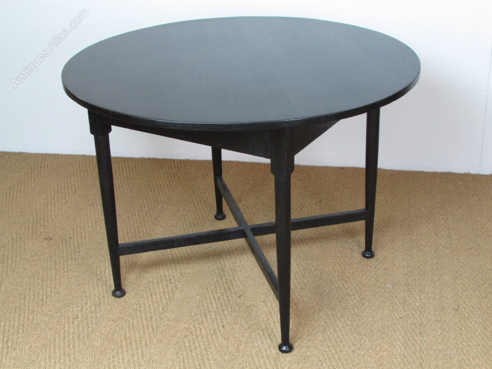 Heal 39 s ebonised circular breakfast dining table antiques atlas - Heals dining table ...