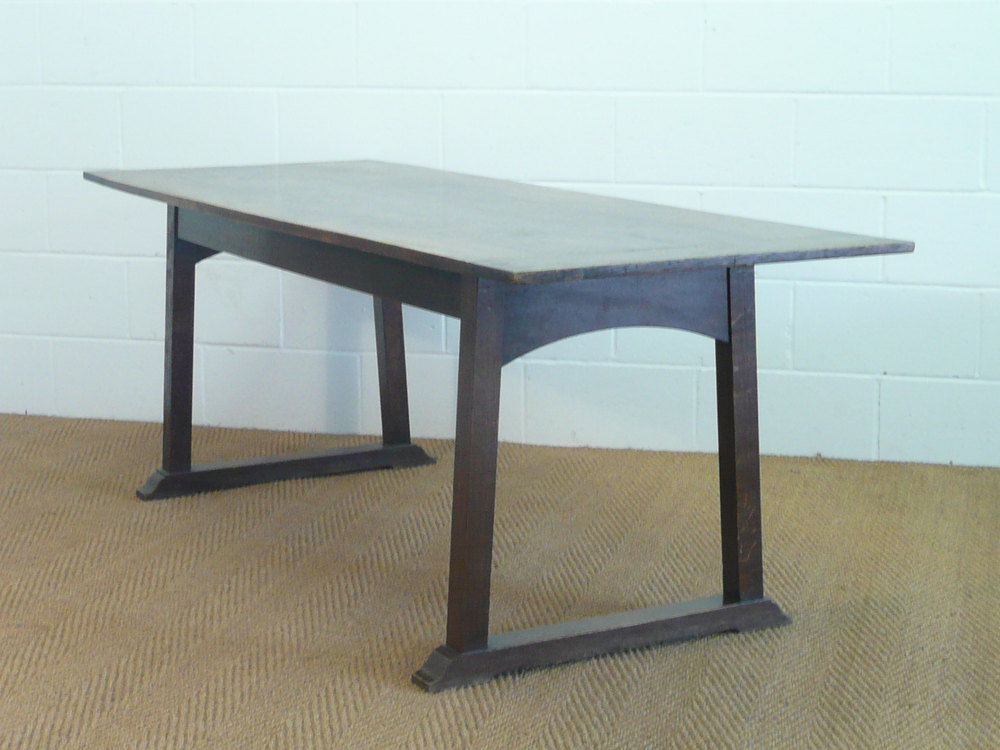 Heal 39 s letchworth 7 39 oak refectory dining table antiques atlas - Heals dining table ...