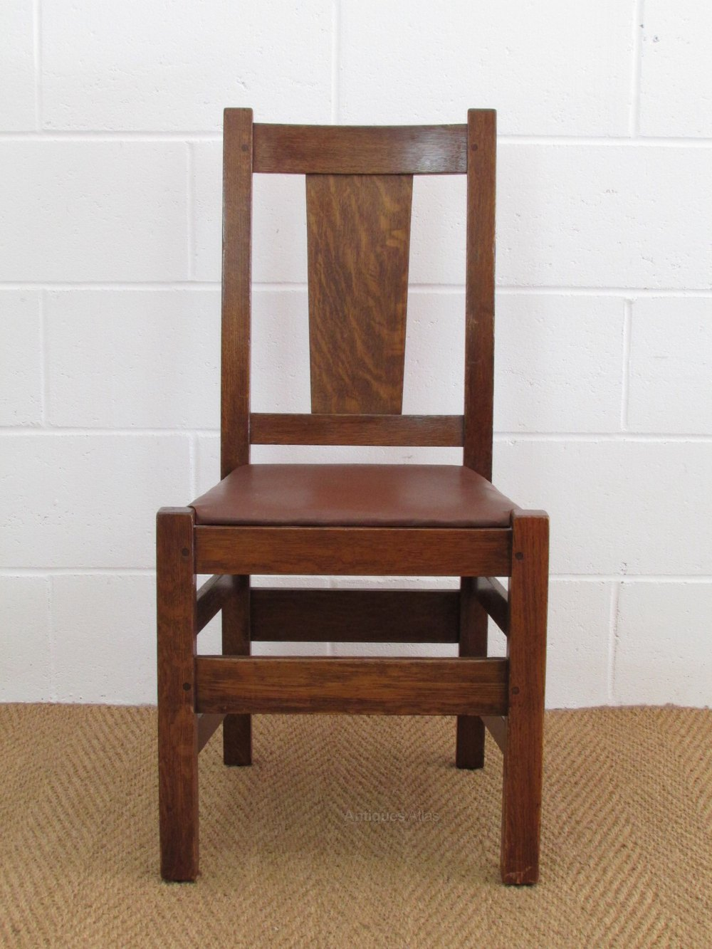 Set Of 4 Stickley Bros Oak Dining Chairs Antiques Atlas