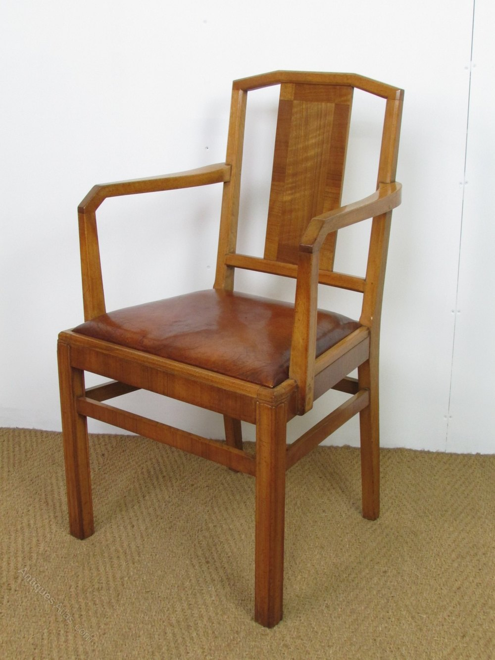 Set Of 8 Heal 39 S Art Deco Walnut Dining Chairs Antiques Atlas
