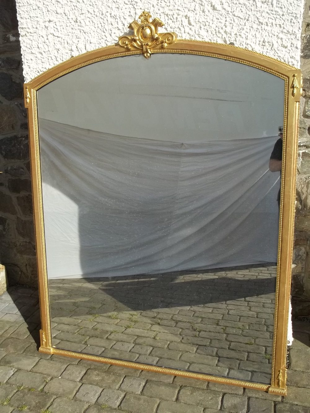 Antiques Atlas Antique Large Gilt Wood Overmantle Mirror