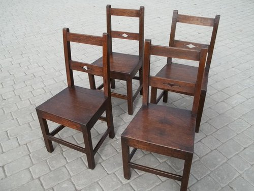 Antique Set Oak Dining Chairs ... - Antique Set Oak Dining Chairs - Antiques Atlas