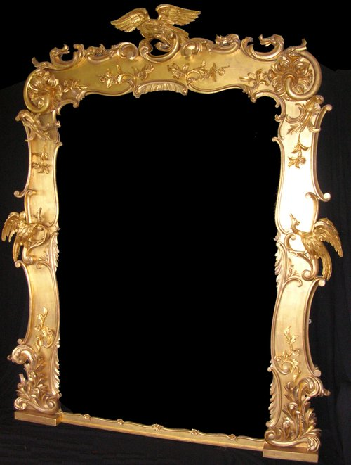 Antiques atlas antique large regency gilt mirror for What is a gilt mirror