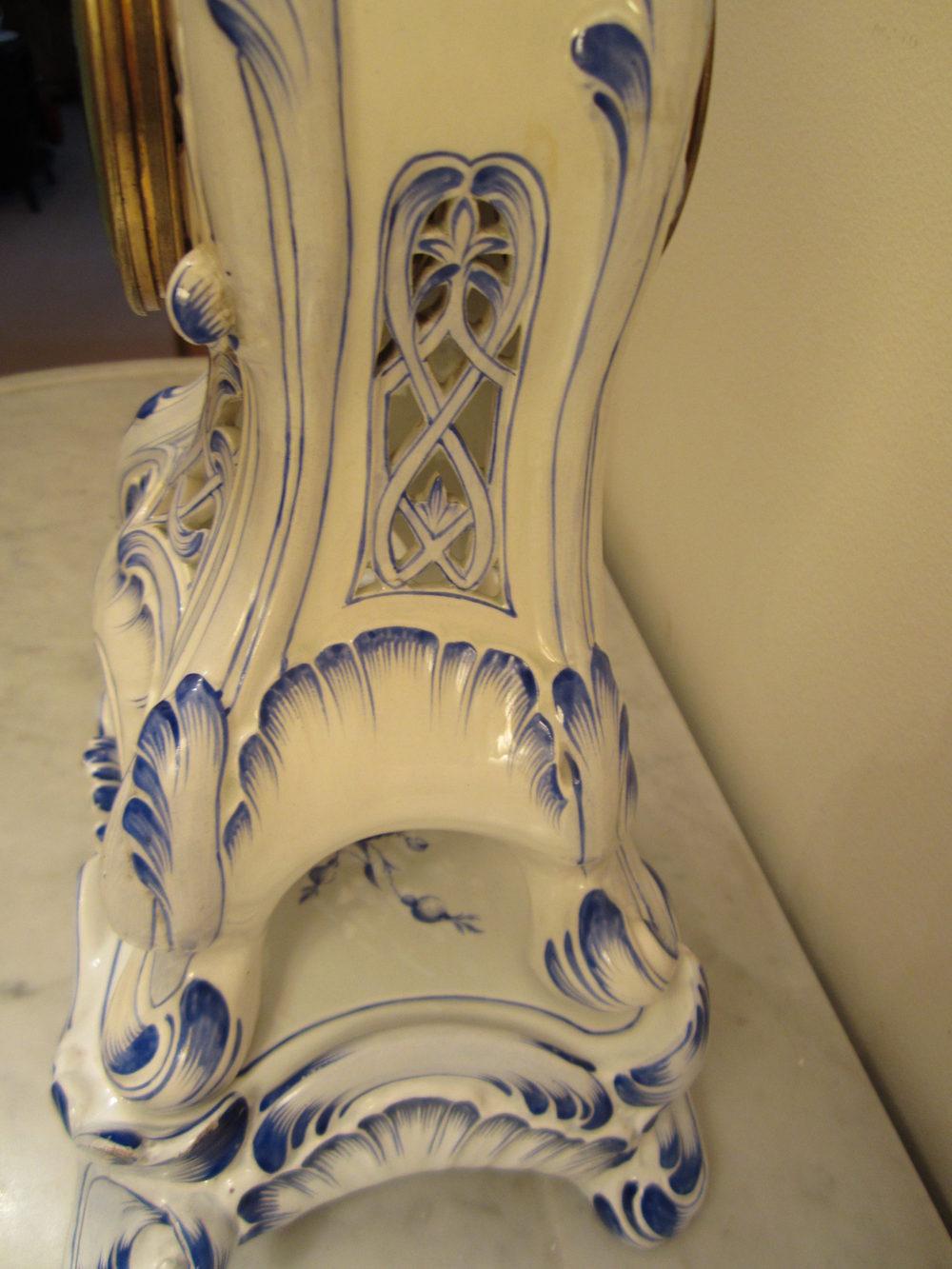 Antiques Atlas Blue And White Delft Porcelain Clock