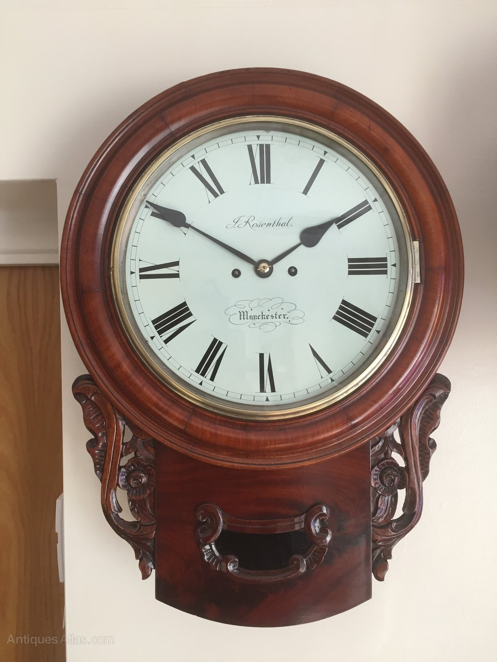 Antiques Atlas J Rosenthal Of Manchester Fusee Wall Clock